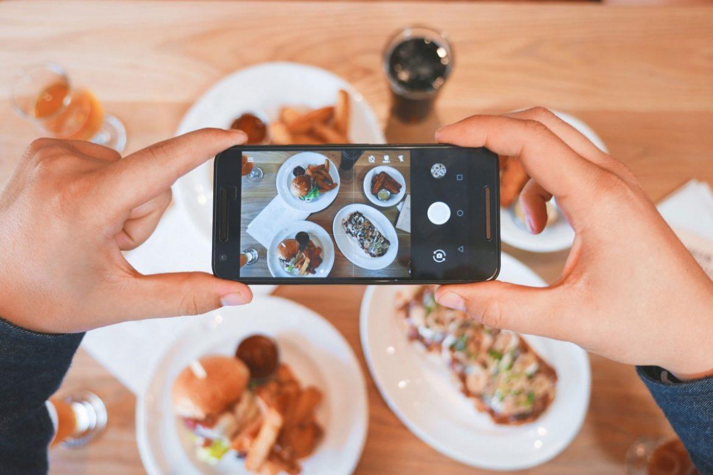 photographie culinaire à l'aide d'un smartphone